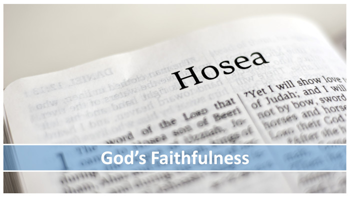"""The words, """"God's Faithfulness"""" superimposed on the first page of the book of Hosea"""